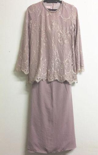 NH by Nurita Harith in Mauve - Baju Kurung Moden