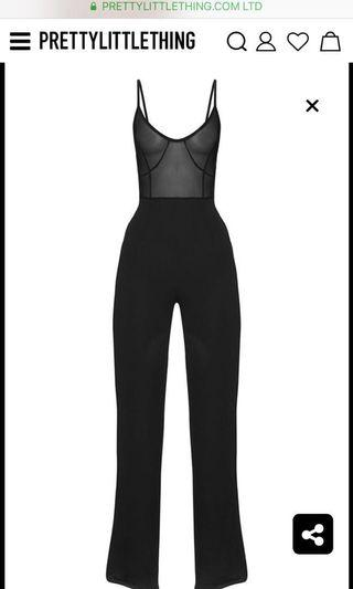Pretty Little Thing Mesh Jumpsuit