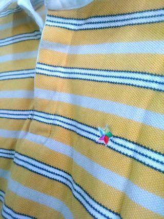 🚚 黃條紋半長袖上衣
