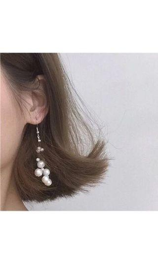 日系珍珠耳夾
