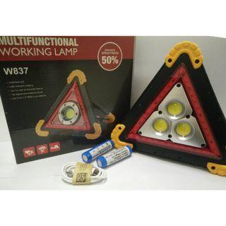 2 ITEM! Jualan Murah PROMOSI RAYA!!!!!!! Multifunctional Working Lamp W838 (Cahaya Amaran Segitiga)