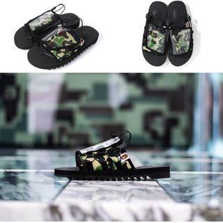 A bathing ape bape x suicoke ABC camo 綠迷彩 拖鞋 聯名款
