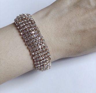 Wedding Bling Rhinestones Bracelet - New