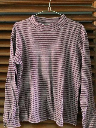 Sweater stripe purple