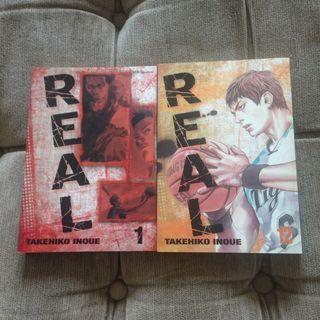 REAL manga volume 1 & 12