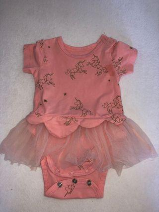 Baby girl unicorn one piece romper dress