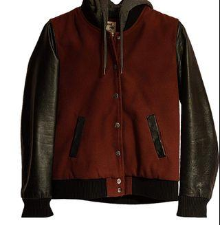 West 49 burgundy Jacket