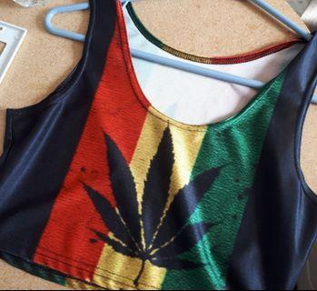 Rasta Crop Top
