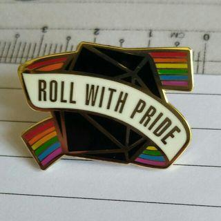 LGBT - Roll with Pride pin