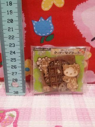 Kitty Wooden Magnet