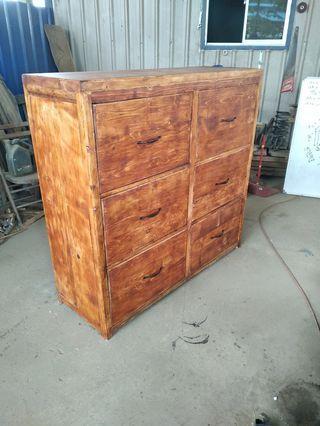 Dresser wood kayu cabinet