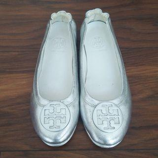 Tory Burch Silver Flat Shoe