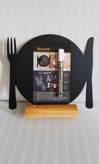 Securit plate shaped chalk board/memo board