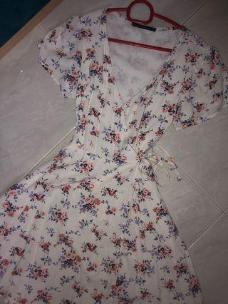 Abercrombie Floral Wrap Dress