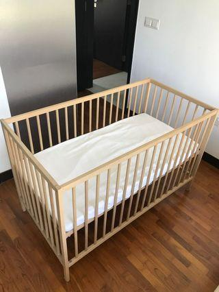 🚚 Ikea baby cot with new mattress