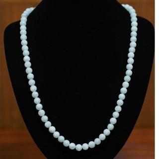 Mother's Day Special Sale - Luminous Jade Bead Necklace (9.3-9.8mm)