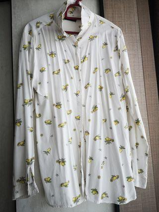 Cotton On White Lemon Blouse