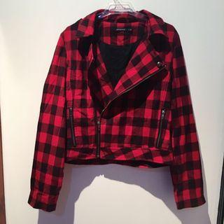 Red Plaid Jacket M