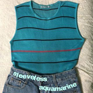 Sleeveless aquamarine
