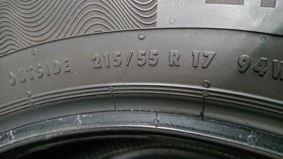 215/55/17 Conti