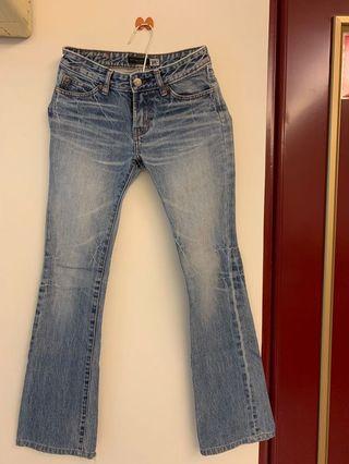 🚚 IBS低腰刷色牛仔褲