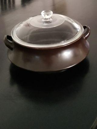 Nikko Stew pot, base dia - 160mm, height - 85mm, come with clear glass cover