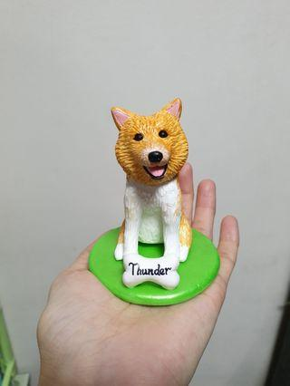 Costomise dog figurine Pomeranian made of polymer clay