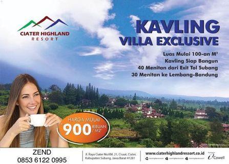 Kavling villa exclusive cluster