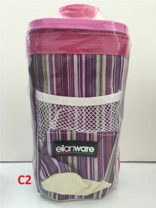 BNIP Elianware Square Plastic Tumbler with bag 1.5 litre