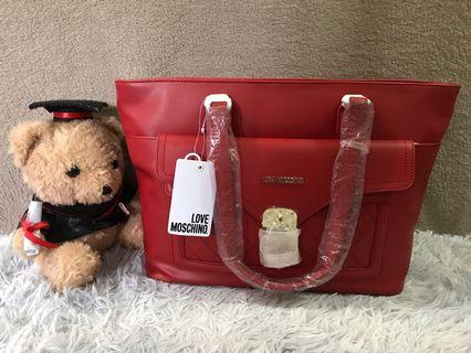 Love Moschino Red Heart Tote