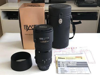 Nikon AF 80-200mm f2.8D 小黑三 鏡頭