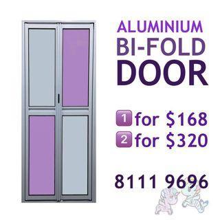 Bifold door for bathroom, kitchen, storeroom etc
