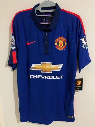 曼聯 Manchester United 14/15 away 作客 Size M #33 McNair 英超字章BNWT