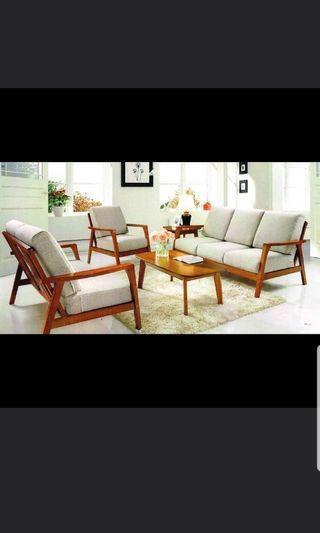 🚚 #JuneHoliday30 ⭐30% OFF⭐Vintage Wooden Sofa Set