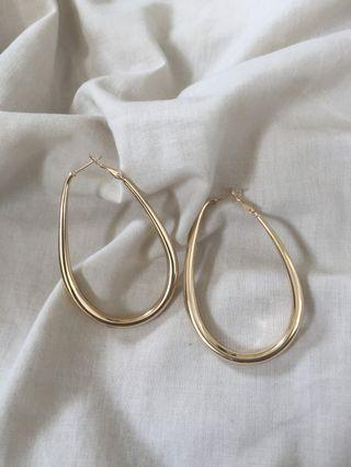Earrings Anting Emas Gold Droplet
