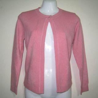 棉絨羅紋開襟長袖外套罩衫