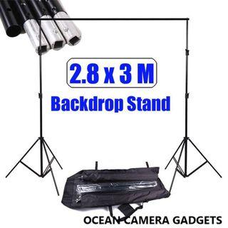 🚚 Heavy Duty 2.88x3m Photo Studio Backdrop Photography Background Support Stand Kit Event backdrop