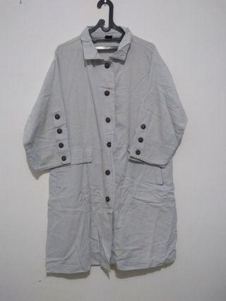 blouse denim light blue big size
