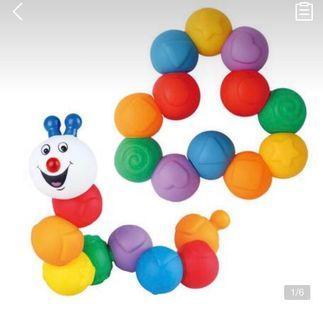 Caterpillar beads chain toy