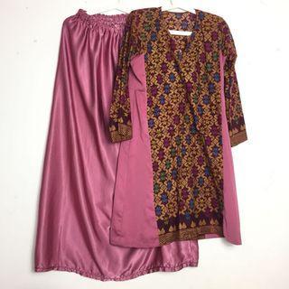 Baju Kurung Batik Baju Raya Trendy Plus Size Corak Pattern Tenun Songket