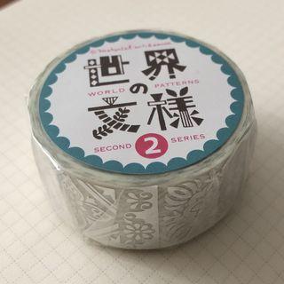 日本進口 Round Top 銀箔紙膠帶 世界文樣-葡萄牙