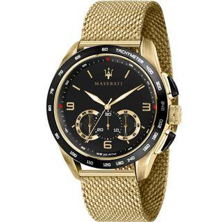 Mens maserati gold watch