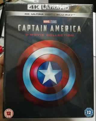 Captain America 3 Movie Collection 4k Ultra HD Blu-ray