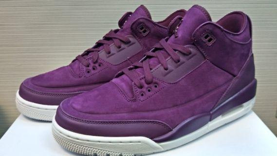 Nike X Jordan 3 Retro Bordeaux Phantom