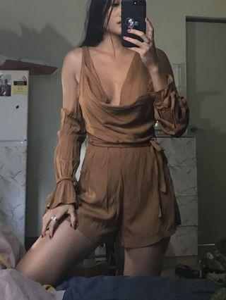 Brown play suit