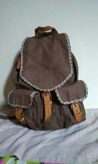 Canvas Bagpack Brown