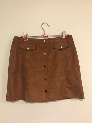 Glassons suede skirt