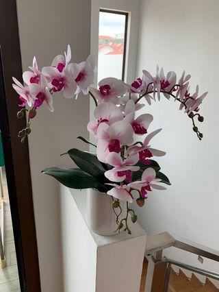🚚 Artificial Orchids Pot Plant