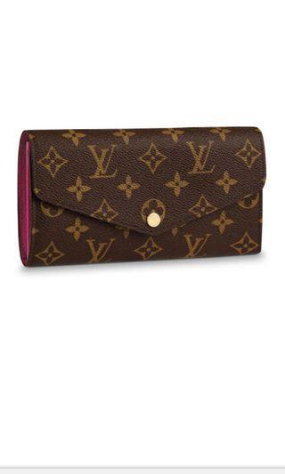 Authentic LV Sarah wallet in Fuchsia