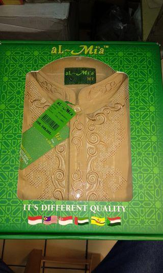 Baju koko Al-Mia warna coklat